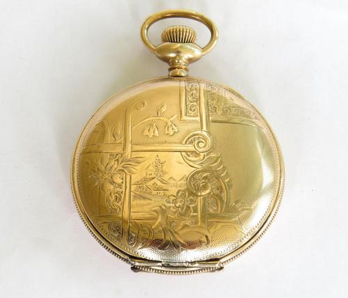 Antique United States Watch Co Hunter Pocket Watch (1 of 5)