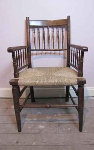 William Morris Spindle Back Oak Armchair (1 of 5)