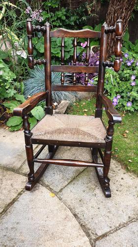 Good 19th Century Child's Rocking Chair (1 of 6)