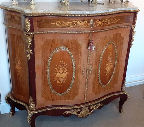 Louis XVI Style French Marble Top Cabinet (1 of 8)