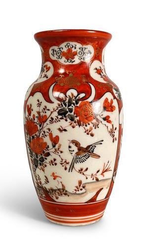 Meiji Period Kutani Vase (1 of 6)