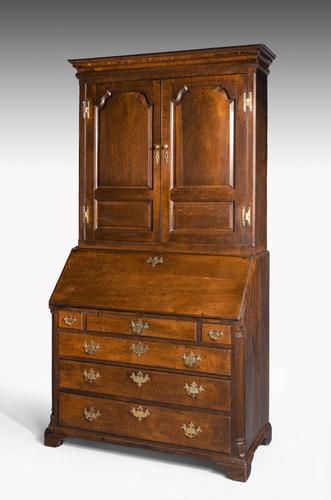 Late 18th Century Oak Bureau Cabinet (1 of 6)