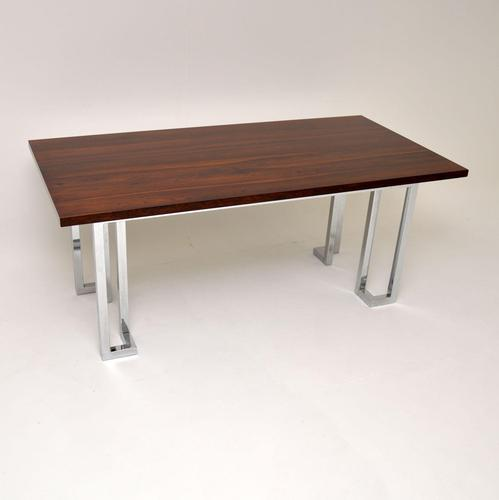 1970's Vintage Rosewood & Chrome Dining Table by Pieff (1 of 8)