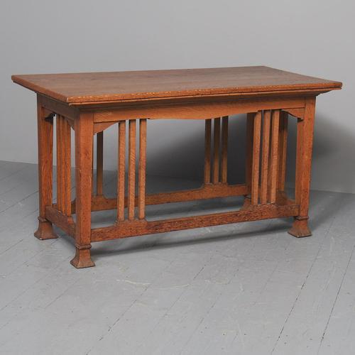 Glasgow Style Art Nouveau Library Table c.1890 (1 of 8)