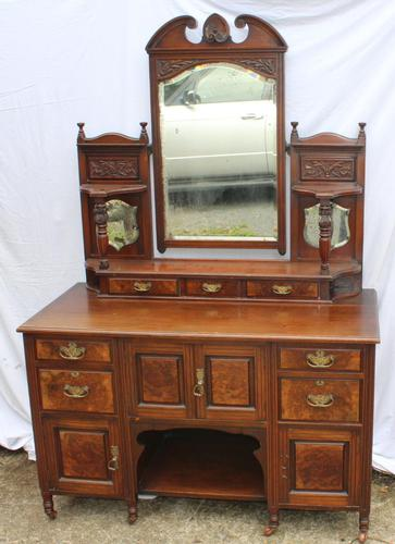 1920's Mahogany Dressing Table with Well Carved Panels (1 of 3)