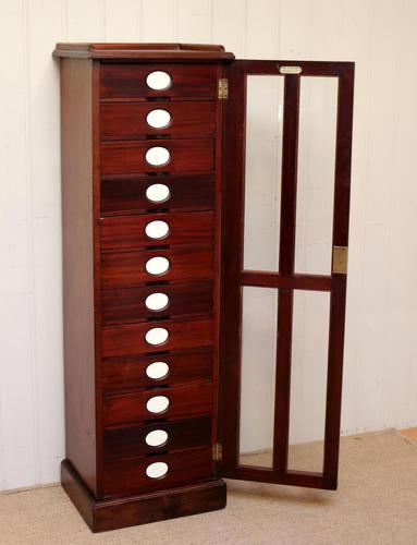 Unusual Mahogany Filing Cabinet (1 of 11)