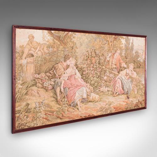 Antique Tapestry Panel, French, Framed, Needlepoint, Decorative, Edwardian, 1910 (1 of 10)