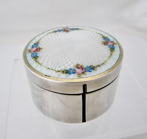 Beautiful silver and Enamel stamp-roll box Austria c1920 (1 of 6)