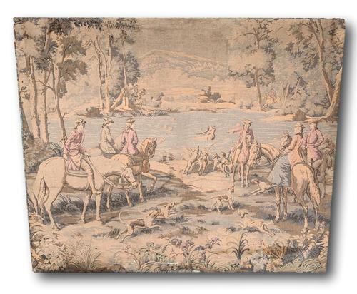 Superb 19th Century Tapestry Depicting Hunting Scene (1 of 7)