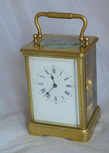 Striking Victorian Brass Carriage Clock (1 of 6)