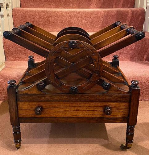 Regency period Rosewood 3-section X-Frame Canterbury (1 of 6)