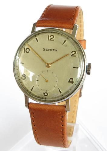 Gents WW2 Era Zenith Wrist Watch (1 of 5)