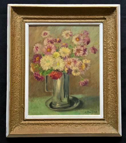 Lovely Original Early 20thc French Impressionist Still Life Floral Oil Painting (1 of 12)