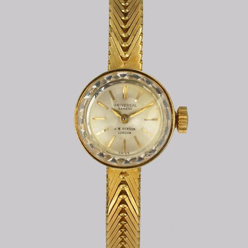 Vintage Universal Geneve J W Benson 18ct Gold 1960s Ladies Bracelet Watch (1 of 18)