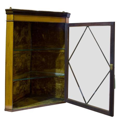 Fine Quality Edwardian Glazed Satinwood Corner Cabinet (1 of 5)