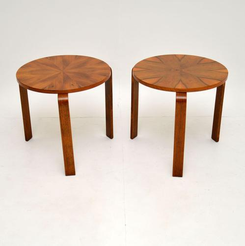 Pair of Vintage Walnut Bentwood Stacking Stools / Side Tables (1 of 8)