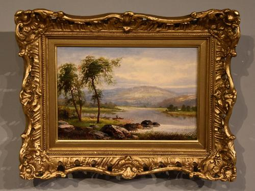 "Oil Painting by Albert Gyngell ""Rydal Water"" (1 of 5)"