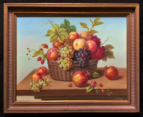 Original Vintage Still Life of Fruit & Flowers - 'Tom Caspers' 20thc British (1 of 12)