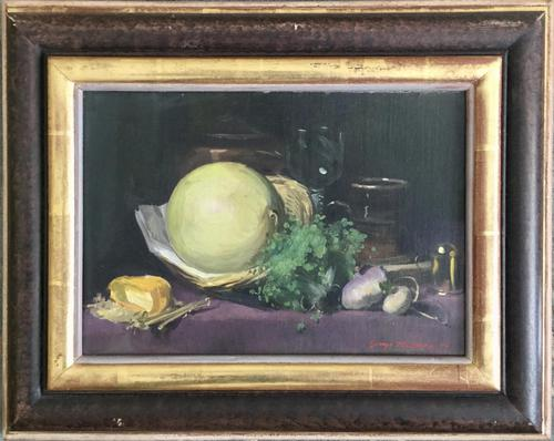 George Bruce Oil Painting ' Still Life of Objects on a Table' (1 of 2)
