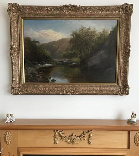 George Henry Jenkins 'A Devon River Landscape' Oil on Canvas Painting (1 of 12)