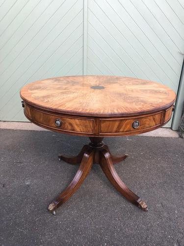 Antique Mahogany Drum Table (1 of 9)