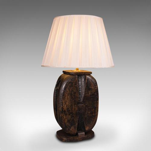 Antique Tall Ship's Block Lamp, English, Maritime, Nautical, Light, Victorian (1 of 12)