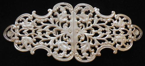 Victorian Birmingham 1898 Hallmarked Solid Silver Nurses Belt Buckle (1 of 8)