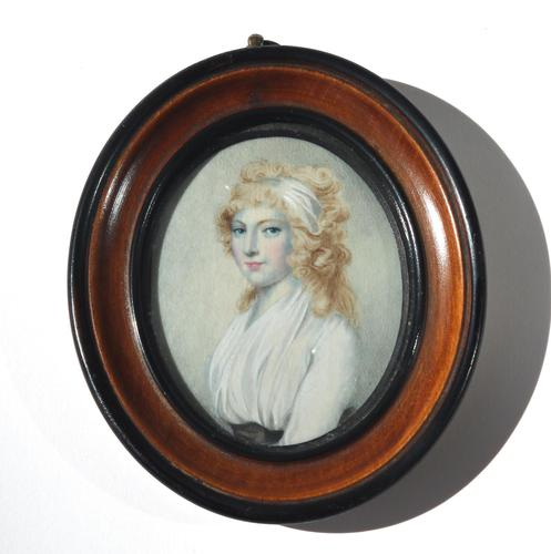After Cosway - A Good Portrait Miniature of a Lady - Early 19th Century (1 of 5)