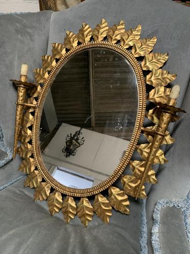 Early 20thC Spanish Gilt Brass Wall Mirror (1 of 4)