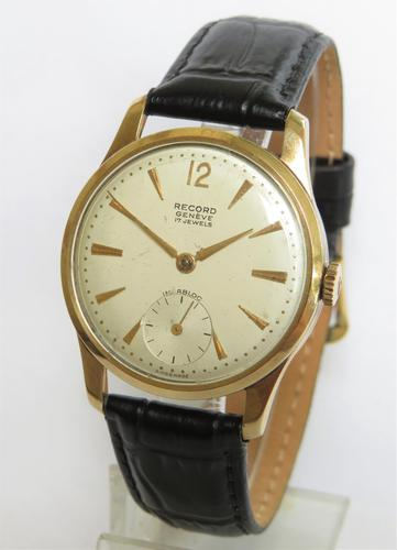 Gents 9ct Gold Record Wrist Watch, 1960 (1 of 5)