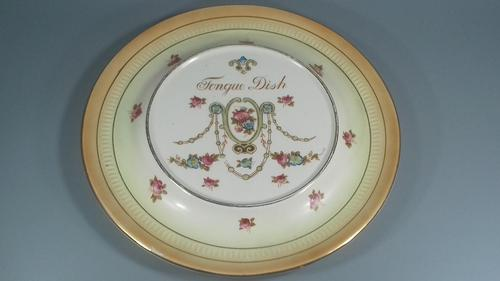 Crown Devon S F & co Edwardian ceramic tongue dish platter swags (1 of 15)