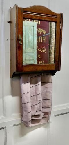 Wall Hanging Oak Cloakroom or Bathroom Cupboard (1 of 6)