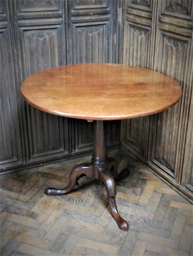Rare George II Cuban mahogany tripod table (1 of 7)