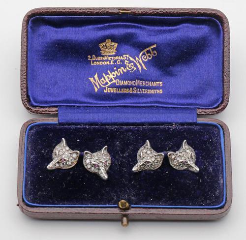 Edwardian Novelty Diamond Cufflinks (1 of 2)