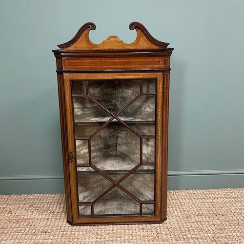 Victorian Mahogany Antique Glazed Corner Display Cabinet (1 of 6)