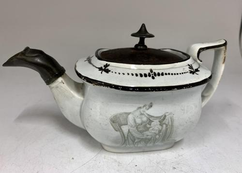 Regency Pearlware Pottery Toy Tea Pot circa 1815 (1 of 11)