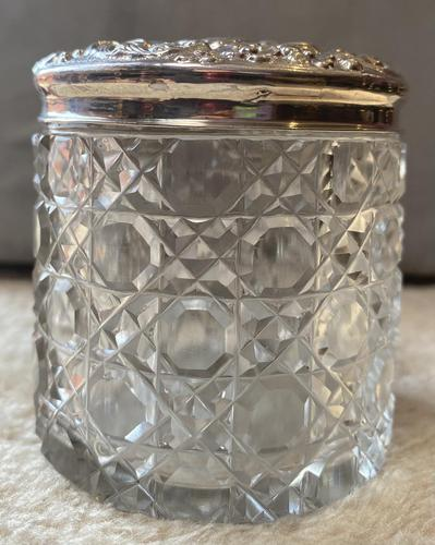 Silver Topped Glass Dressing Table Jar (1 of 5)