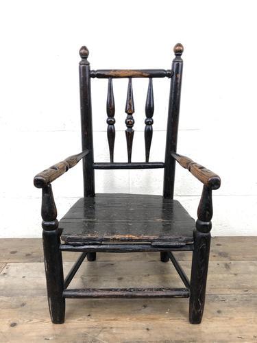 Antique 19th Century Provincial Oak Child's Chair (1 of 8)