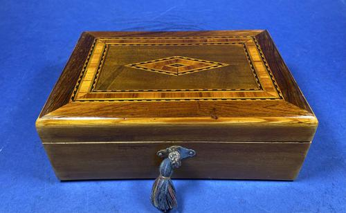 Victorian Rosewood Box With Inlay. (1 of 12)