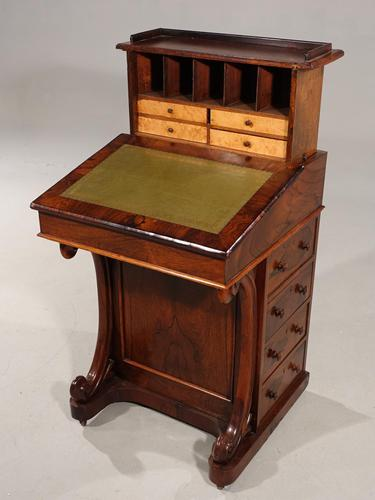 Very Good Quality Late 19th Century Rosewood Davenport (1 of 8)