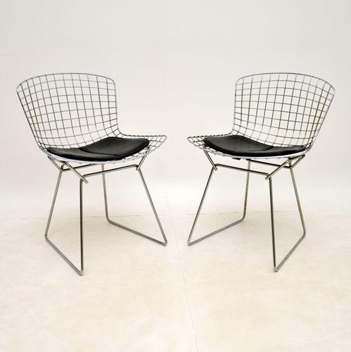 Pair of Vintage Wire Chairs by Harry Bertoia (1 of 10)