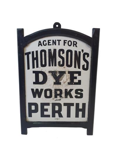Lovely Framed Original Enamel Sign for Thomson's, Perth (1 of 2)