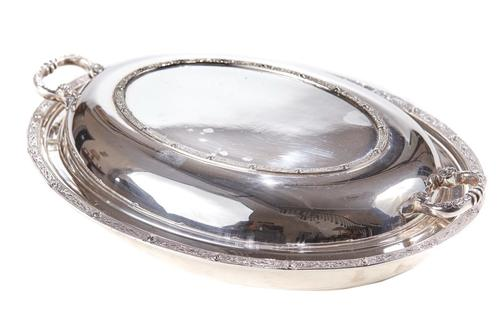 Antique Silver Plated Serving Dish c.1880 (1 of 6)