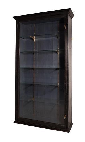 Ebonised Display Cabinet (1 of 9)