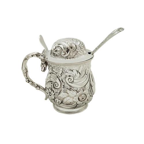 Antique Georgian Sterling Silver Mustard Pot 1819 (1 of 10)