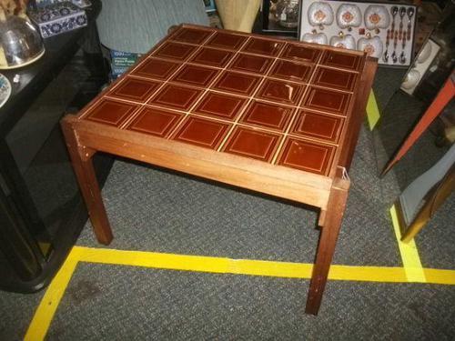 Teak Tile Top Coffee Table (1 of 1)