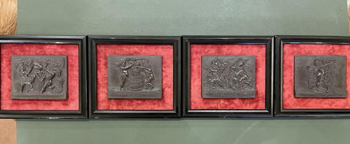Interesting Set of Twelve Welsh Slate Hand-Carved Plaques (1 of 17)
