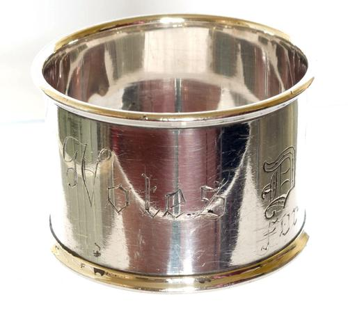 Suffragette Silver Napkin Ring - Birmingham 1917 (1 of 5)