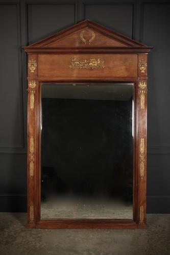 Large French Mahogany Empire Style Mirror (1 of 11)