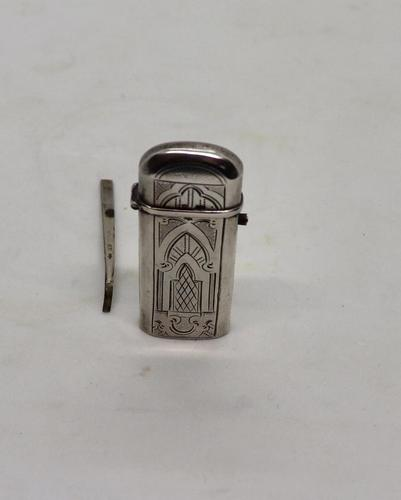 Art Nouveau Silver Tinder Box (1 of 9)